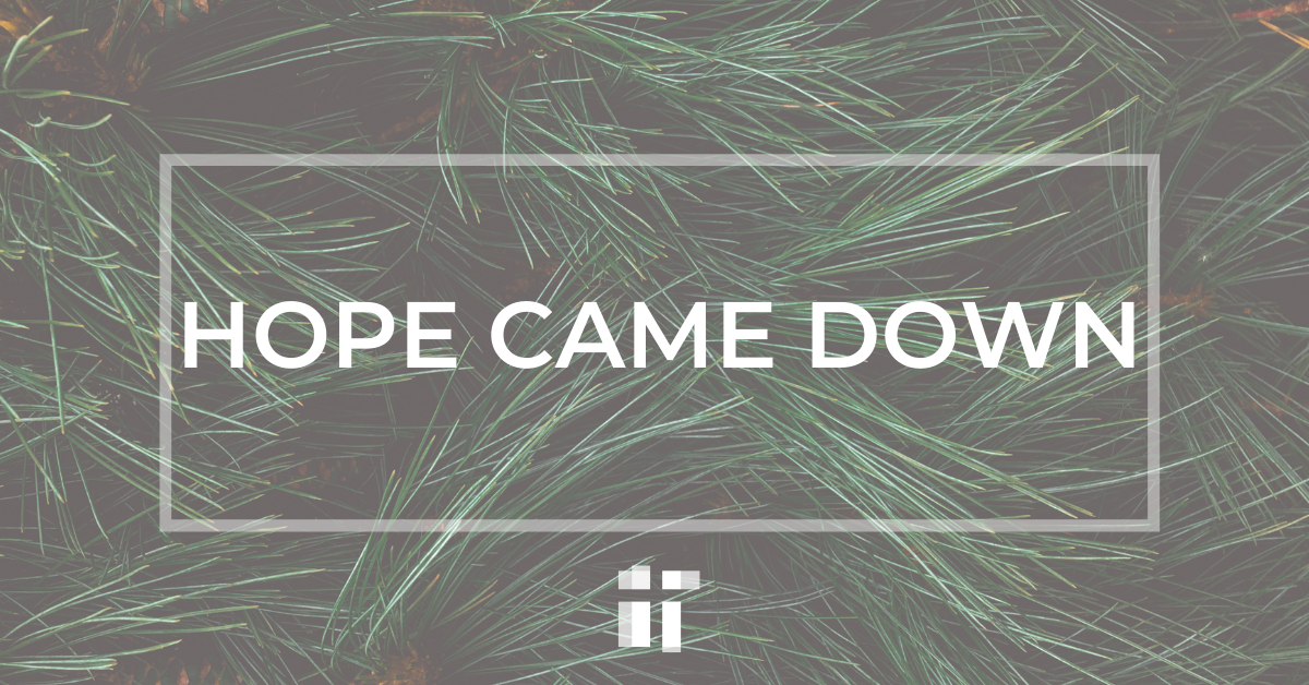 Hope Came Down: Advent 2020